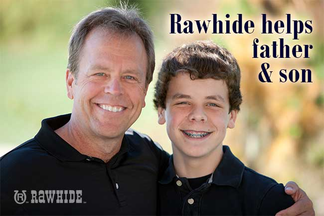 Rawhide changes lives of father and son